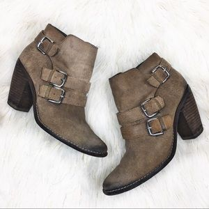 Dolce Vita Brown Ankle Buckle Booties